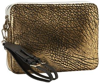Pour La Victoire Women's Marcelle iPad Clutch, Black/Gold/White