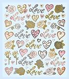 Hobby Design Sticker * Love - Liebe - Herzen Valentinstag * Aufkleber 3452311