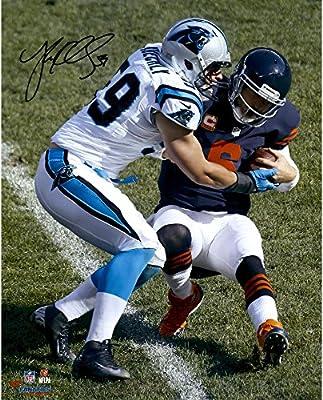 "Luke Kuechly Carolina Panthers Autographed 16"" x 20"" Tackle Bears QB Photograph - Fanatics Authentic Certified"