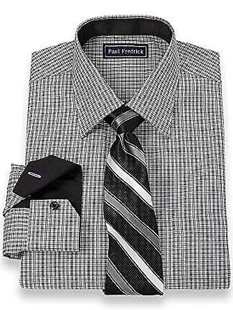 Paul fredrick men 39 s 2 ply cotton spread collar dress shirt for 2 ply cotton dress shirt