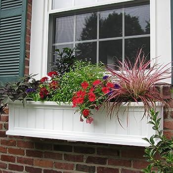 Cape Cod Window Box 4FT White