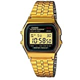 Casio Vintage Collection Digital Unisex Bracelet Watch (Gold) (Color: Grey, Tamaño: One Size)