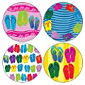 "CoasterStone AS9155 Absorbent Coasters, 4-1/4-Inch, ""Flip Flop Collection"", Set of 4"