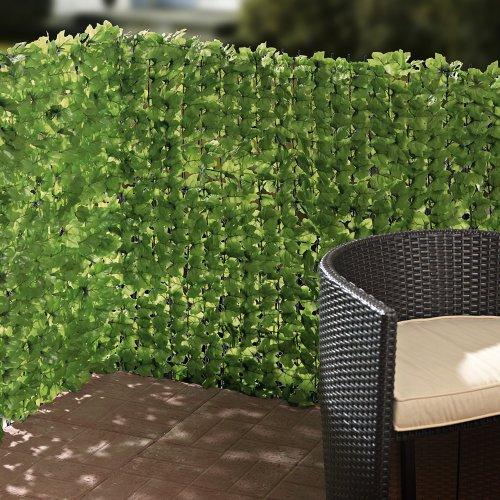 balkon sichtschutz efeu zuschneidbar gr n ca 3 x 1 m. Black Bedroom Furniture Sets. Home Design Ideas