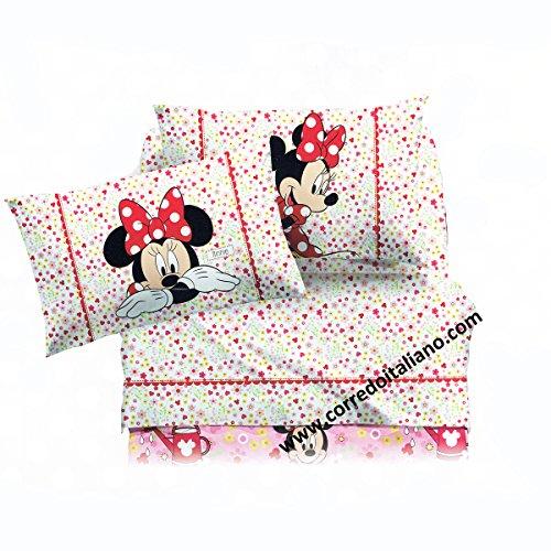 CALEFFI completo lenzuola Minnie Provenza letto 1 piazza Disney 2016