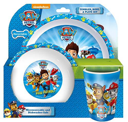 spearmark-paw-patrol-tumbler-bowl-and-plate-set-blue