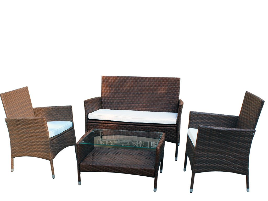 xinro 8tlg gartenm bel lounge m bel lounge set g nstig polyrattan rattan garnitur sitzgruppe. Black Bedroom Furniture Sets. Home Design Ideas