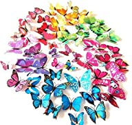 AWAKINK(TM) 72 Pcs 3d Butterfly Stick…