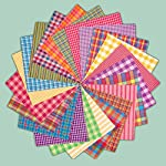40 Bright Charm Pack, 5 inch Precut Cotton Homespun Fabric Squares by Jubilee Creative Studio