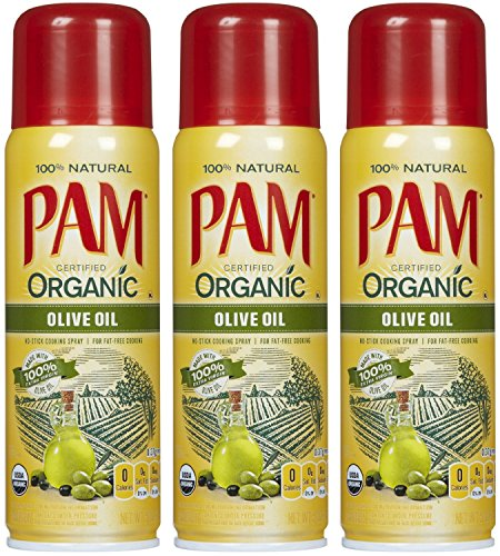 Pam Organic Olive Oil Cooking Spray 5oz Can (Pack of 3) (Pam Spray Oil compare prices)