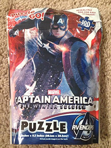 Captain America: The Winter Soldier Puzzle on the Go 100 Piece by Marvel - 1