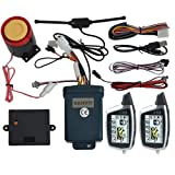 BANVIE 2 Way Motorcycle Security Alarm System with Remote Engine Start Anti-Hijacking(100% Original OEM from SPY Motorcycle Alarm Factory) (Color: LM212)