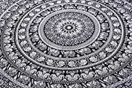 1 X Wall Art Mandala Hippie Tapestry Full Size Sheets Wall Cotton Bohemian Tapestry 92X82