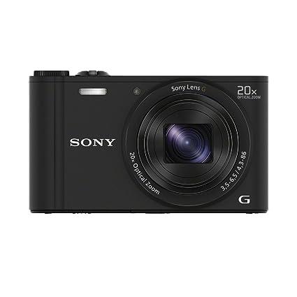 """Sony DSCWX350B.CE3 Appareil photo hybride 3"""" (7,62 cm) 18,2 Mpix Zoom optique 20x Wi-Fi/HDMI/USB Noir"""