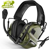 TOENNESEN Tactical Headset Electronic Earmuff with Microphone - Sound Amplification Electronic Ear Protection Noise Canceling Shooting Headphones(ArmyGreen) (Color: ArmyGreen)