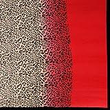 Jaanvi Fashion Red Chiffon Printed Saree(Multicolor_Freesize)