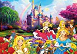 Princesses at a castle - photo wallpaper - princess wall ornament - XXL princess wall decoration