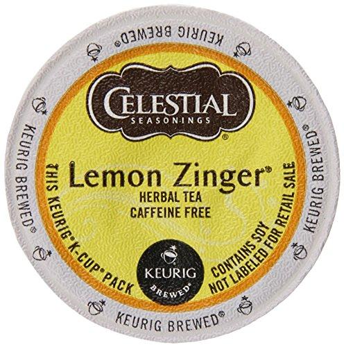 Keurig Celestial Seasonings Teas, Lemon Zinger, K-Cup Packs,50 Count front-631071