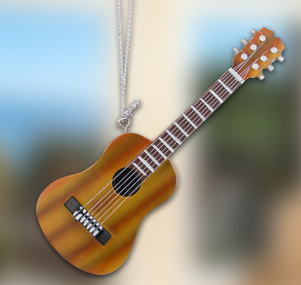Hanging guitar decorations brown acoustic guitar for Acoustic guitar decoration ideas