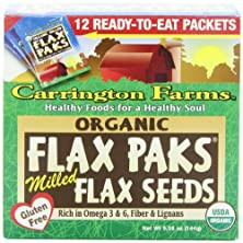 buy Carrington Farms Organic Ground Milled Flax Seed, 12-Count Easy Serve Packets (Pack Of 3)