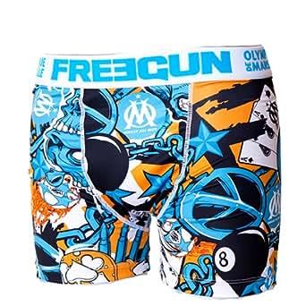 Boxer OM - Freegun - Collection officielle OLYMPIQUE DE MARSEILLE - Football club Ligue 1 - Sous vêtement taille adulte homme XXL