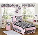 Pink And Black Sophia Childrens Bedding 4pc Twin Set By Sweet Jojo Designs
