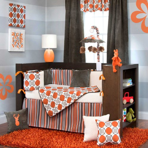 Echo 4 Piece Baby Crib Bedding Set With Bumper By Sweet Potato back-78868