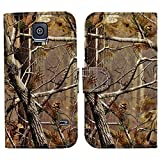 myLife Deep Wooded Camo Print – Classic Design – Koskin Faux Leather (Card, Cash and ID Holder + Magnetic Detachable Closing) Slim Wallet for NEW Galaxy S5 (5G) Smartphone by Samsung (External Rugged Synthetic Leather With Magnetic Clip + Internal Secure Snap In Hard Rubberized Bumper Holder)