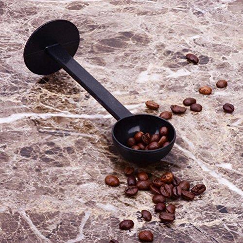 UhoMEY 2 IN 1 Coffee Scoop 10g Plastic Measuring Spoon Tamper Length 150mm