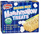 Glenny's Brown Rice Marshmallow Treats, Vanilla, 5-Count Boxes (Pack of 6)