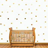 Adarl 50pcs DIY Gold Circles Crystal Acrylic Mirror Wall Stickers Sliver Wall Art Murals for Home Decor (Color: Gold(5cm), Tamaño: 1 Set (50Pcs))