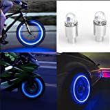 MChoice Auto accessories Bike Supplies Neon Blue Strobe LED Tire Valve Caps (Blue) (Color: Blue, Tamaño: Size: Free Size)