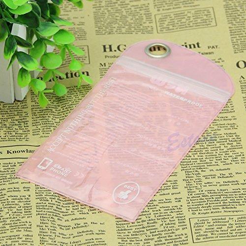 Bestdeal® Wasserdichte Hülle Tasche Case für Mobile Handy Kamera (Hellrosa)