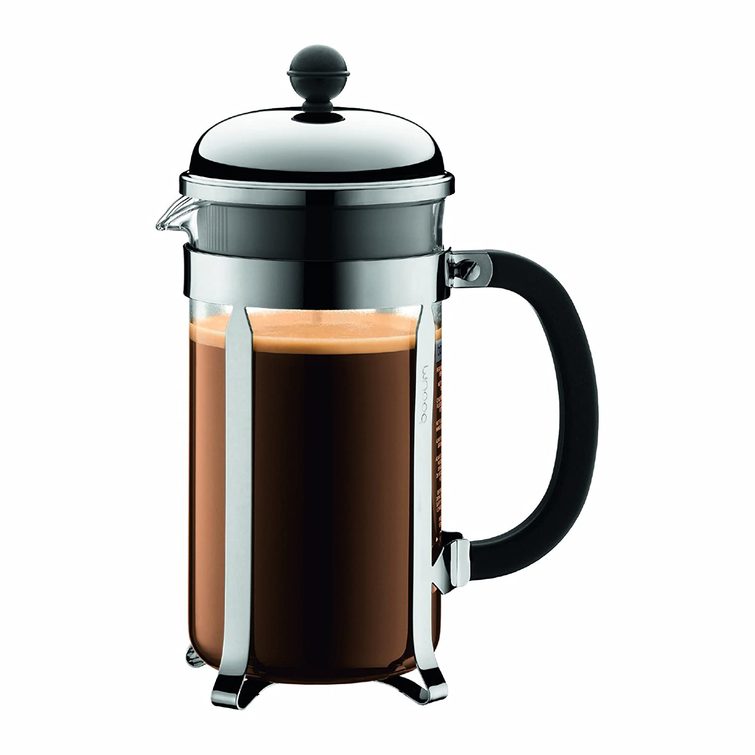 The Bodum Chambord 8 Cup is also a top rated French press and we highly recommend it.