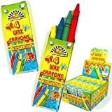 4 X Wax Crayons Kids Party Bag Fillers 4 in pack 10 packs supplied