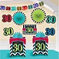 30th Birthday Chevron Mix Decorating Kit (Each)