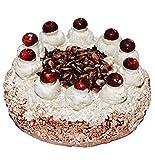 Pastel de cereza Schwarzwäler/pastel - - enanos escala 1:12 - para casa de muñecas casa de muñecas - cocina de juguete - Tarta Pastel de cereza - - para tarta selva negra - Crema/crema de la torta de cerezas diorama - - para tartas