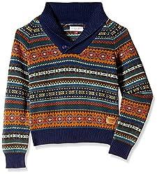 US Polo Association Boys' Sweater (UKSW5217_Rust_S)