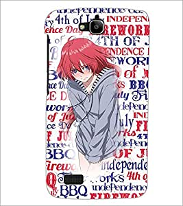 Printdhaba Cute Girl D-2709 Back Case Cover For Huawei Honor Holly