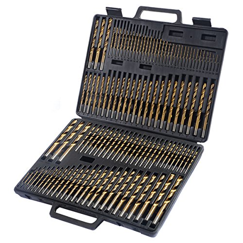 Brand New 115pc HSS High Speed Steel Titanium Drill Bit Set Metal w/ Index Carry Case (Morse Taper Drill Bit Set compare prices)
