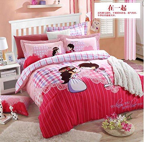 JYLW LINEN Piumino matrimoniale?creatività, personalità, moda, biancheria per la casa, 1.8, 2 meter letto applicare colore stile selezionato,200*230CM245*245CM48*74*2CM