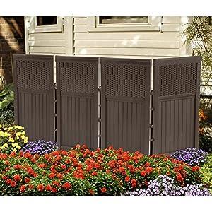 Suncast Resin 4-Panel Outdoor Screen Enclosure - Mocha Brown
