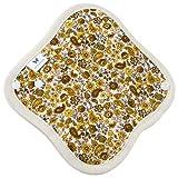 Amazon.co.jp布ライナー 小さめ 薄手 AENUANCE 057.ペイズリーイエロー | AESST-057 オリモノシート 布製パンティライナー