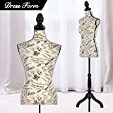 Mannequin Torso Manikin Dress Form Cover Mannequins Female Body Sewing Dress Form with Adjustable Tripod Stand 60-67 Inch Height Stand for DressDisplay Clothes Display Jewelry Display (Color: Mix Color)