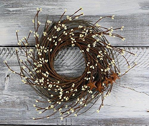 Pip Berry, Twig, & Star Wreath, 14