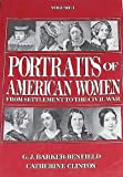 img - for Portraits of American Women: From Settlement to the Civil War (Volume 1) book / textbook / text book