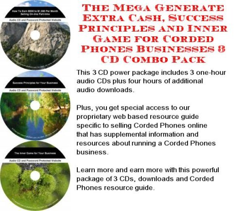 The Best How To Earn Extra Money, Marketing and Inner Game for Corded Phones Biz 3 CD Package PDF