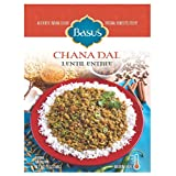 Basu's HomeStyle Chana Dal fully prepared lentil entrée pouch (7oz x 6 pack) - Indian lentil flavors from home