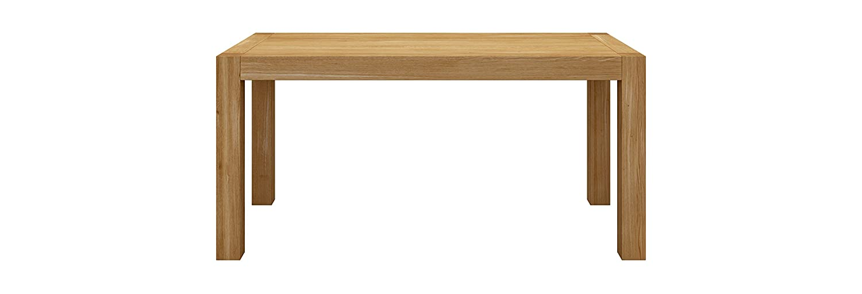 Miloni Esstisch BLOX, 120x80x76 cm Eichen / Massivholz nicht ausziehbar, holzfarbe natur