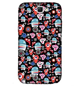 Samsung Note 2 Colourful Graphic & Illustration Phone Back coverGI67